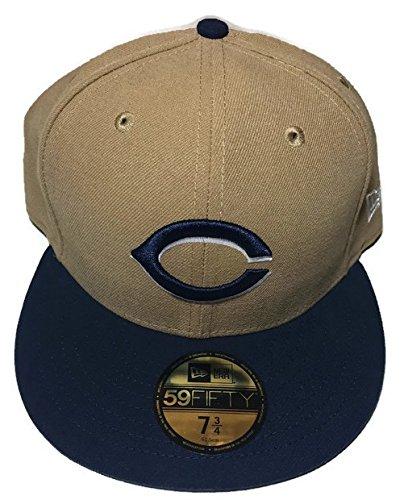 MLB New Era Cincinnati Reds 2 Tone Basic 59FIFTY Fitted Khaki/Oceanside Blue Cap Hat (7 3/4) ()