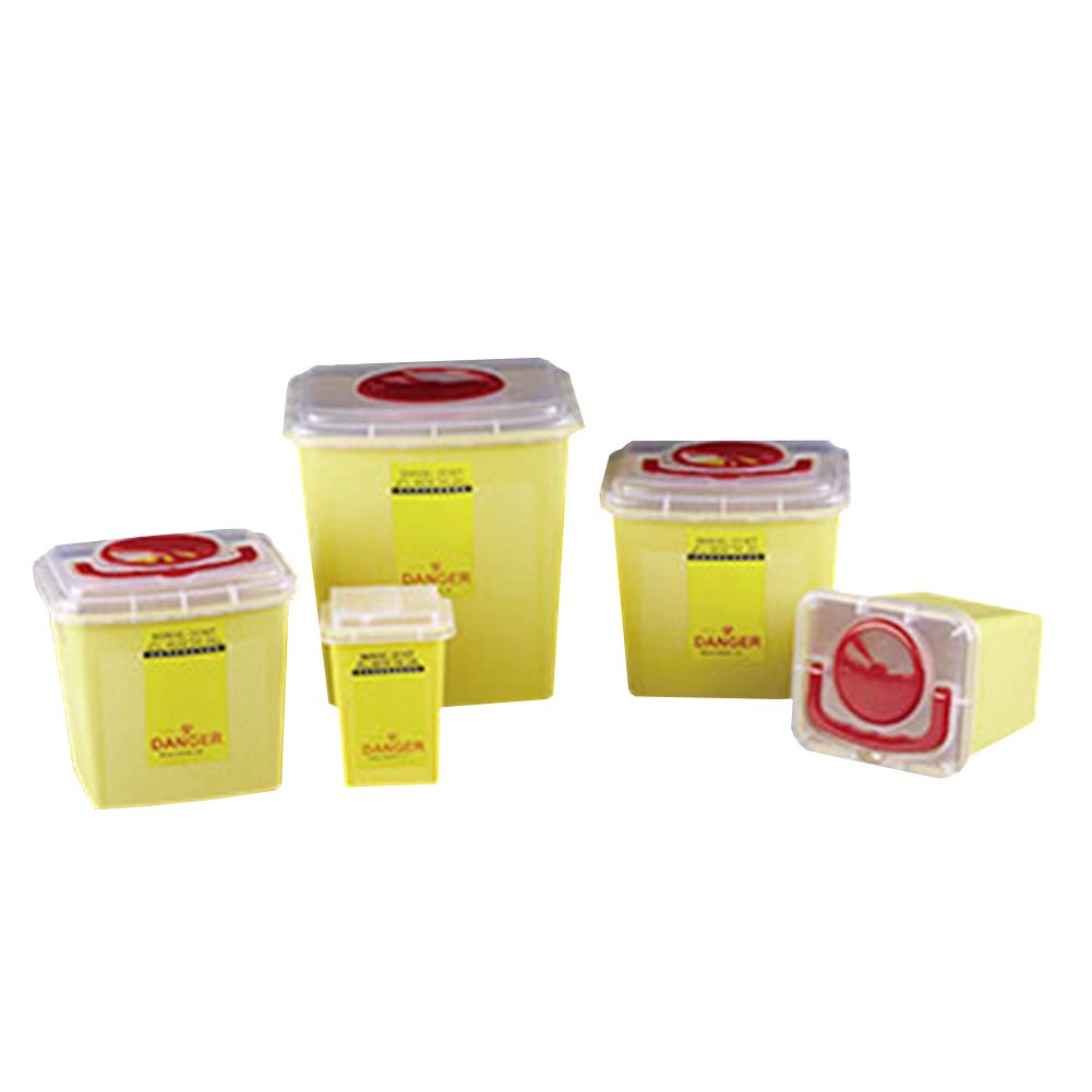 Tansoole Square Yellow Consumables Sharp Box Hospital Clinic Medical Weapon Box Recycling Case by Tansoole