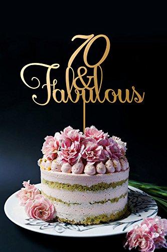 Amazoncom 70th Birthday Cake Topper Anniversary Cake Topper 70