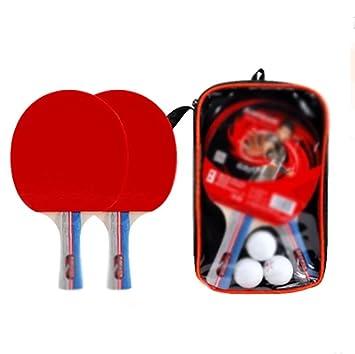 X&M Set De Mesa Ping Pong Padel - Pack de 2 Paletas De Premium Raquetas Y 3 ...
