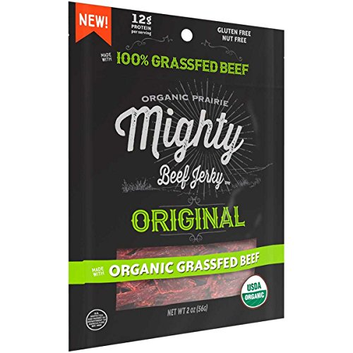 Organic Valley Organic Beef Jerky; Original Mighty , Pack...