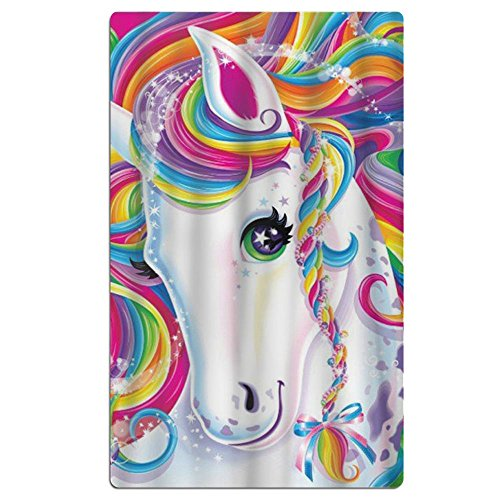 FSKDOM 100% Cotton Plush Colorful Unicorn Oversize Large - V