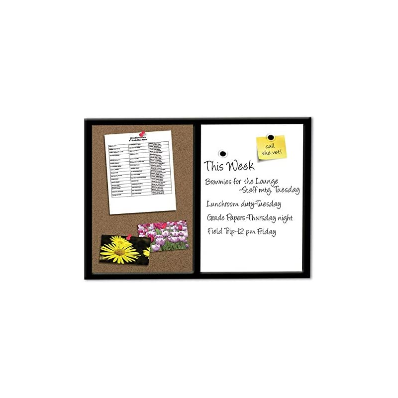 FORAY Magnetic Combo Board With Black Wo