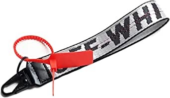 O-F Industrial Personality Keychain Lanyard Rubber Hand Strap Car Keyring/Badge Holder/ID Lanyard for Men Women Boys Girls