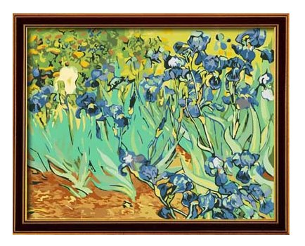 Diy oil painting, paint by number kit- worldwide famous oil painting Irises by Van Gogh 16*20 inch. (Acrylic Paint Van Gogh)