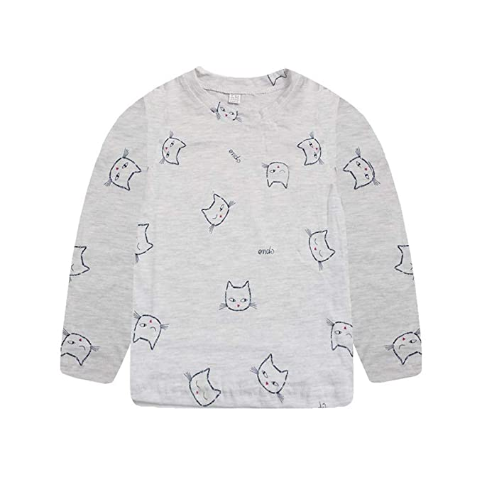 a92ce3542bab30 Amazon.com  Baby Toddler Girls Boys Fall Winter Clothes Long Sleeve Tops  Shirt 2-6 Years Old