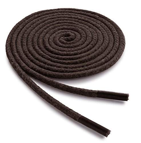 OrthoStep Waxed Dress Round 32 inch Brown shoe laces - Extra Durable Shoe and Boot Laces 2 Pair - And Round Brown
