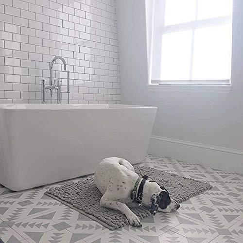 Contemporary Ceramic Tile - Moroccan Mosaic & Tile House CTP60-02 Tadla Handmade Cement Tile, 8''X8'', Gray/White