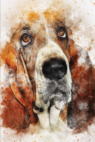 A Bassett Hound Dog Illustration Art Journal: 150 Page Lined - Hounds Bassett
