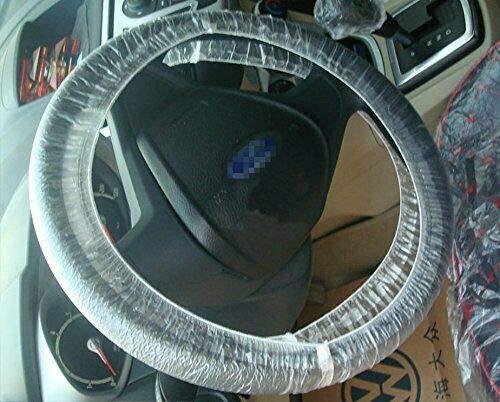 Yiwa Couverture de Volant de Voiture,100pcs//Set Couvre-Volant en Plastique jetable Universel