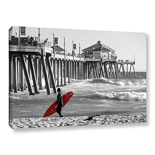 ArtWall Scott Campbell's Existential Surfing at Huntington Beach Gallery Wrapped Canvas Set, 32