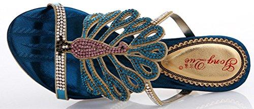 CFP - Zapatos con correa de tobillo mujer Azul - azul