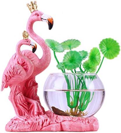 1A2B3C Cute Cartoon Animal Resin Pink Flamingo Planter Flower Pot Vase,Flamingo Yard Ornaments Statues Sculpture,Decor for Home Office Desk Balcony Pink