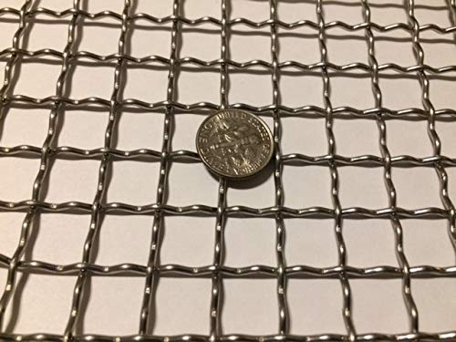 304 Mesh #2 .063 Stainless Steel Wire Mesh 12x24 Stainless Steel Mesh Crimped