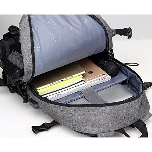 c3461521fbbb Amazon.com: KERVINJESSIE Business Bag Men's USB Port Mount Backpack ...