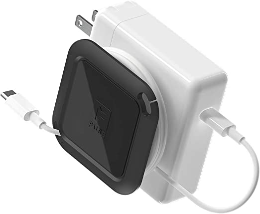 Fuse Reel The Side Kick Collapsible Charger Organizer and Travel Accessory Compatible with MacBook and PC charging cords and adapter cable management ...