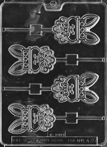 Cybrtrayd Life of the Party E435 Mrs. Bunny Pop Easter Chocolate Candy Mold in Sealed Protective Poly Bag Imprinted with Copyrighted Cybrtrayd Molding Instructions