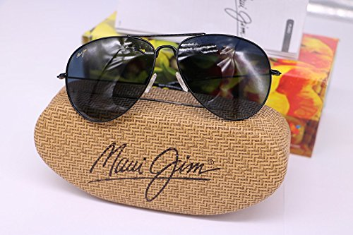 Maui Jim GS264-02 MAVERICKS Gloss Black Frame / Polarized NEUTRAL GREY - Maui Discount Jim