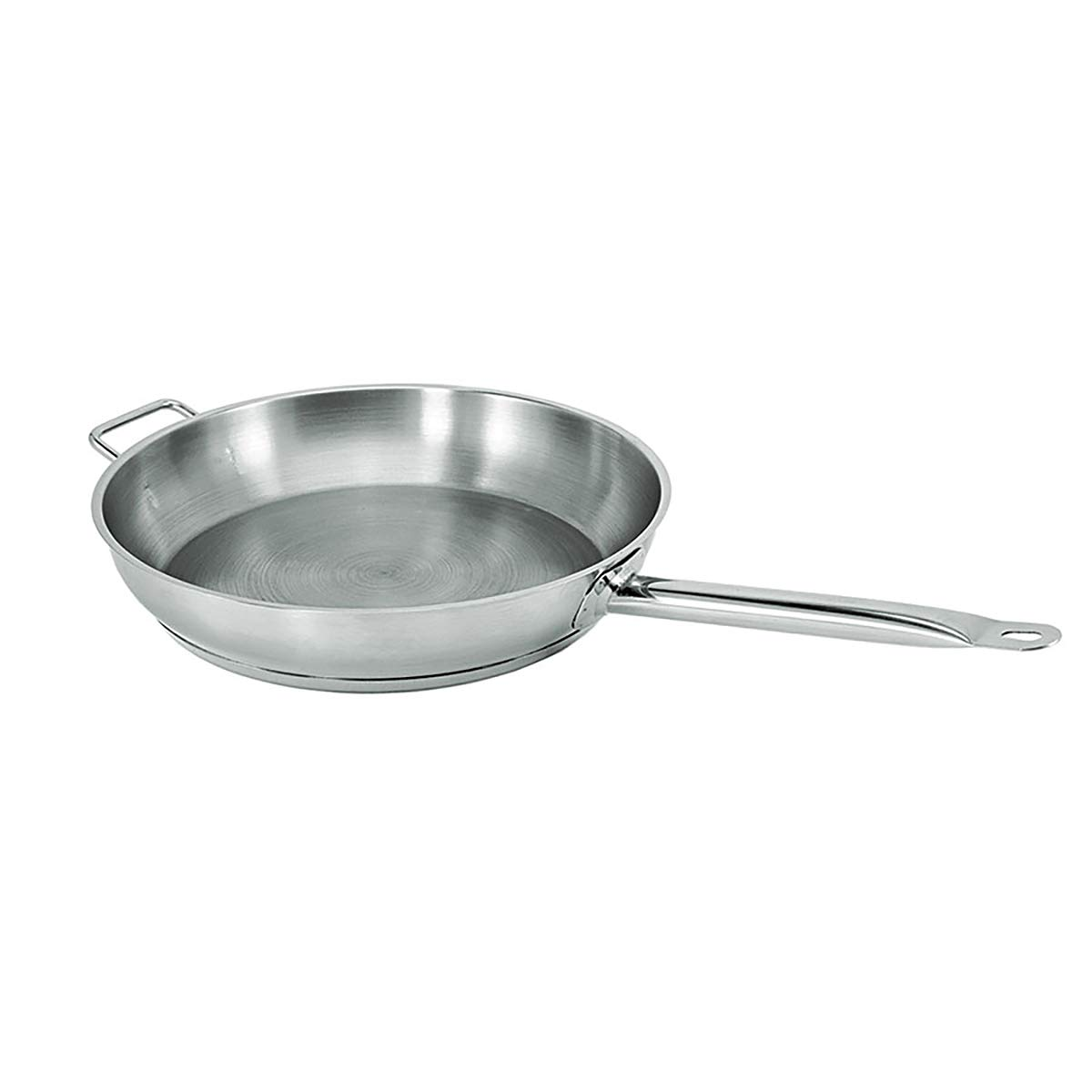 Update International (SFP-14) 15'' Induction Ready Natural Finish S/S Fry Pan w/Helper Handle