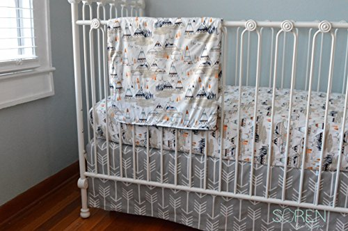 Soren by Angelique Navy Teepee 3-Piece Crib Bedding Set by Soren by Angelique