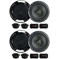4 New Renegade RX6.2C 6.5 400W 2 Way Car Component Audio Speakers System Stereo