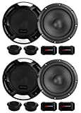 4 New Renegade RX6.2C 6.5'' 400W 2 Way Car Component Audio Speakers System Stereo