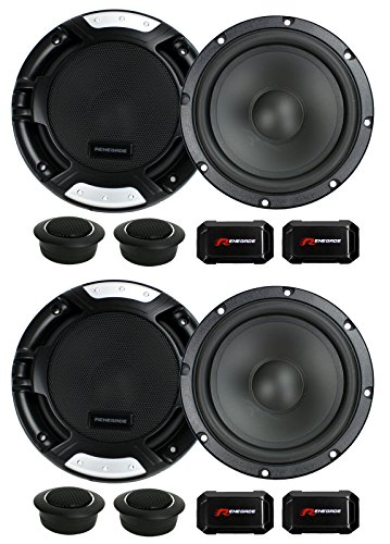 4 New Renegade RX6.2C 6.5'' 400W 2 Way Car Component Audio Speakers System Stereo by Renegade