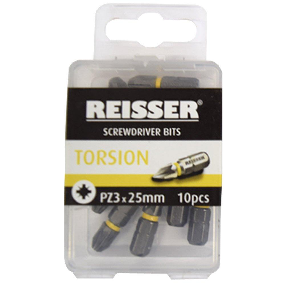 Reisser Torsion Screwdriver Bits 10 Pack PH2 x 25mm