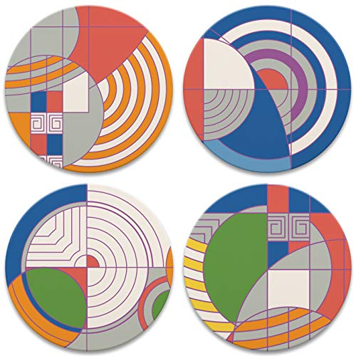 CoasterStone AS890 Frank Lloyd Wright Hoffman Rug Designs Set of 4 Coasters, One Size, Multicolor