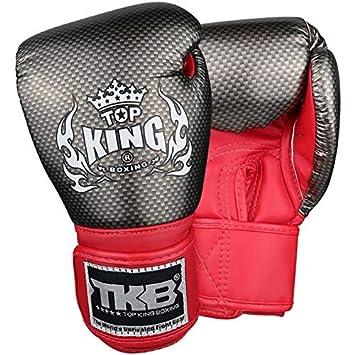 Carbon TOP King Boxing Boxhandschuhe Kinder schwarz-rot Gr/ö/ße S