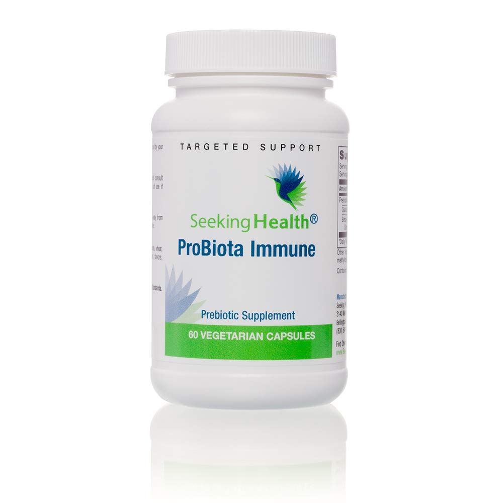 Probiota Immune | 60 Vegetarian Capsules | Prebiotic Formula to Support Healthy Immune System Function* | 60 Servings | Seeking Health | Physician-Formulated