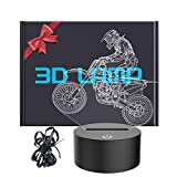 YKLWORLD Motocross 3D Lamp, LED Illusion Motorcycle