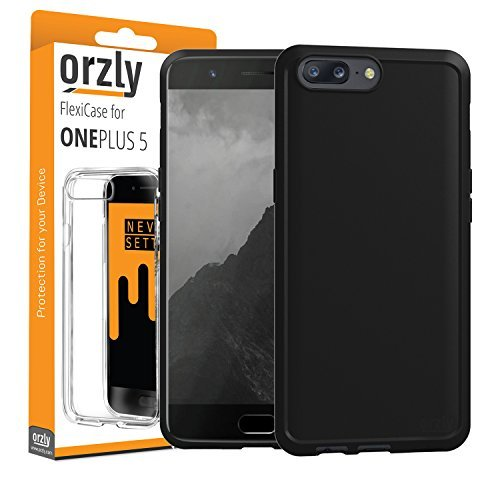 Orzly OnePlus 5 Case, FlexiCase for OnePlus 5 - MATT Black [Slim-Fit]...