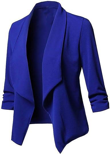 Risthy Trajes Chaqueta Mujer Blazer Mangas Largas Primavera Invierno Abrigo Color Solido Cardigan De Oficina Casual Traje De Chaqueta Negocio Tallas Grandes Blusa Tops Amazon Es Ropa Y Accesorios