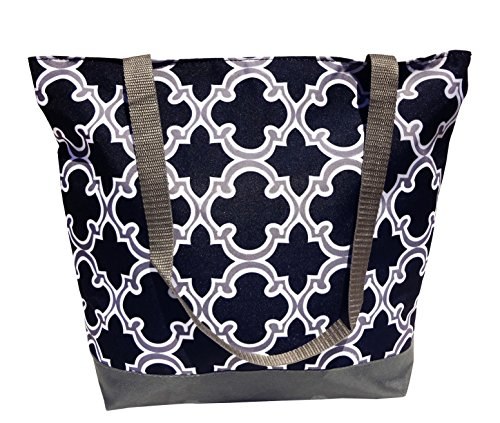 Best Seller Gray Black Quatrefoil Design Best Quirky Weird Great Reusable Grocery Shopping Tote Bag Cool Christmas Clearance Gift Idea for Sale Teacher Girl Unisex Nurse Mommy Mother in Law