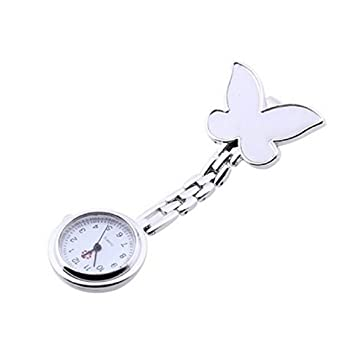 JACKY Butterfly Nurse Clip-on Fob Brooch Pendant Hanging Pocket Watch 2FZbbYzkA