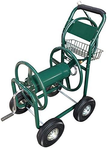 Carrete de manguera de jardín carro con cesta y 4 ruedas: Amazon.es: Jardín