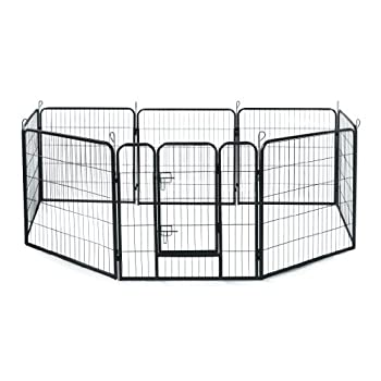 Image of Pet Supplies Allmax Metal Pet Fence, Black
