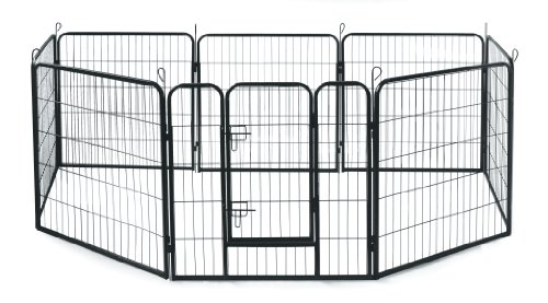 Allmax Metal Pet Fence, Black by Allmax