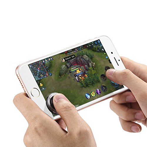 Mobile Game Joystick - [2 Packs] FourPlusOne Cell Phone Game Controller, Rocker Touch Screen Joypad Tablet Funny Game Controller for iPhone Andriod Smartphone and Pad, Black