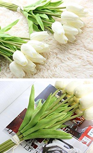 Freedi-10Pcs-Artificial-Tulips-Silk-Flowers-Wedding-Bridal-Bouquet-Party-Home-Outdoor-Decor-Bulk