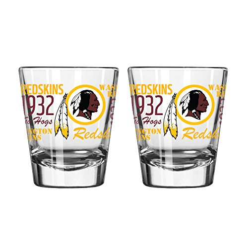 Boelter Brands NFL Washington Redskins Spirit Shot Glass, 2-Ounce, 2-Pack