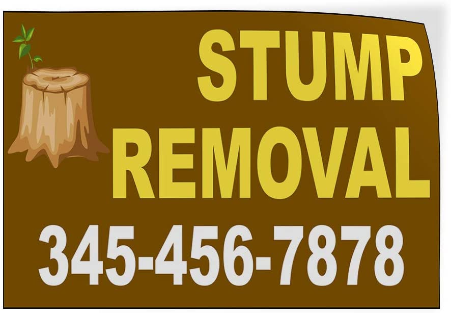Custom Door Decals Vinyl Stickers Multiple Sizes Stump Removal Phone Number Stump Brown Business Stump Removal Outdoor Luggage /& Bumper Stickers for Cars Brown 66X44Inches 1 Sticker
