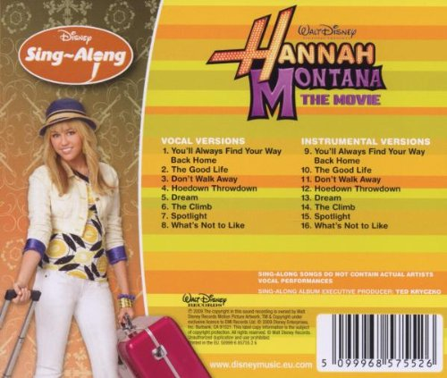 Disneys Sing Alonghannah Montana The Movie Disneys Sing Along