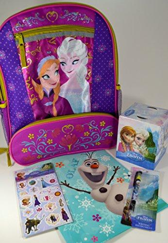 Disney Frozen School Set with Sparkling Backpack, Folder, Pen and Tissue Box