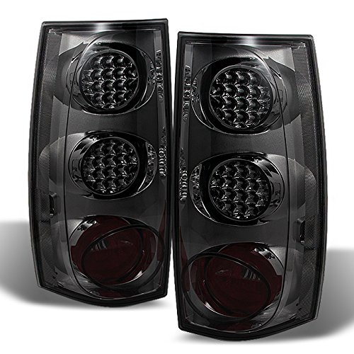 For 2007-13 14 GMC Chevy Yukon XL Suburban 1500 2500 Smoked LED Rear Tail Lights Brake Lamps Replacement Left+Right