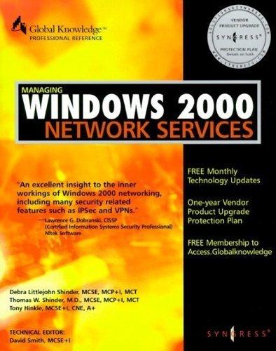 Managing Windows 2000 Network Services Pdf
