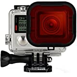 Fosmon GoPro Dive Housing Red Filter - Diving Housing Filter with Mounting Frame Accessory for GoPro HERO3+ / HERO4 Black / HERO4 Silver