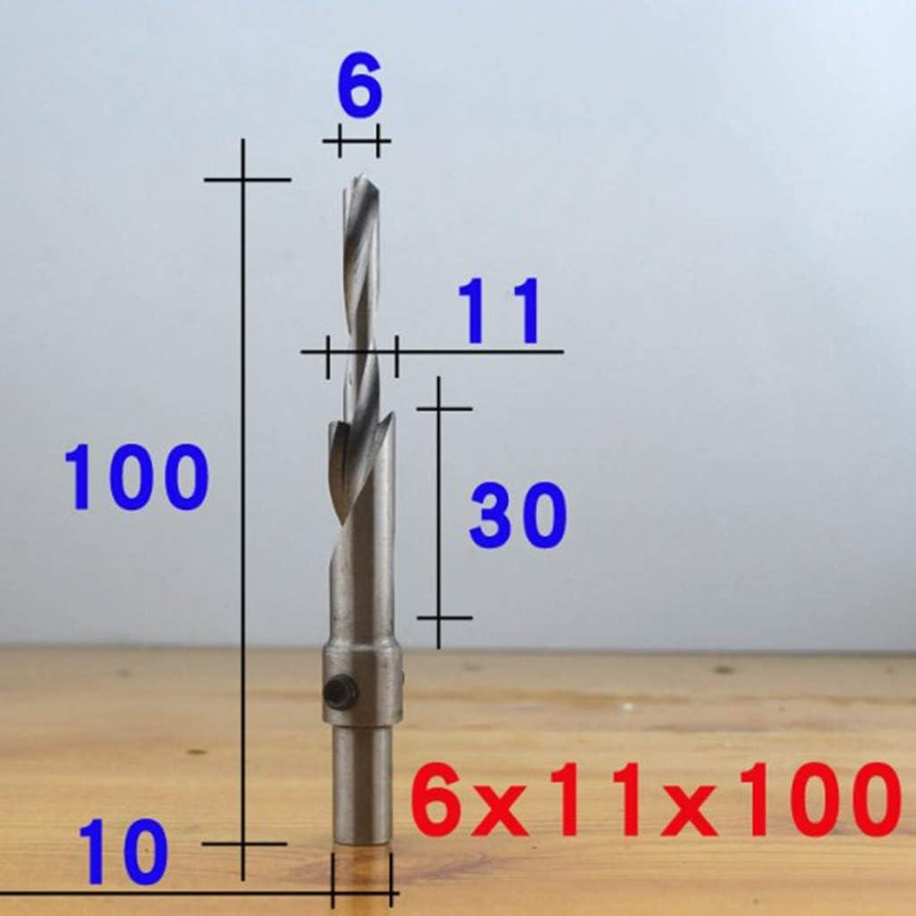 3 /× 6 /× 100mm Sharplace Foret /à Bois HSS Foret /à Salade Forage /à Plusieurs /Étages