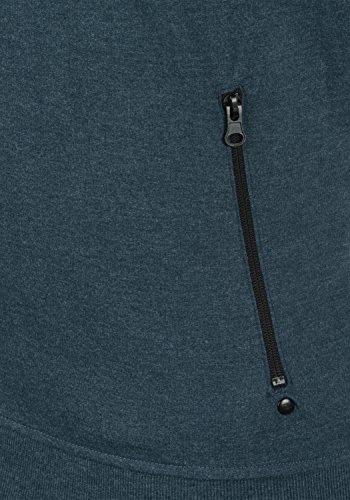 Cerniera Uomo Felpa Pile In Melange 8991 Senza Giacca Insignia Taras solid Cappuccio Con Fodera Stampa Da Blue Yt411q